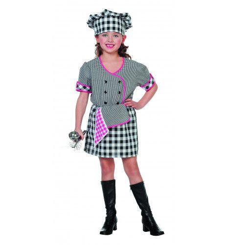Traditionele Kokkin (Meisje) Kostuum