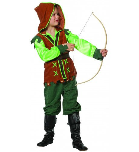 Peter Pan Groene Peter (Suedine / Satijn) Jongen Kostuum