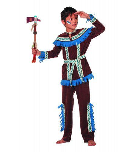 Blauwe Kraai Indiaan Tenderfoot ( Jongen) Kostuum
