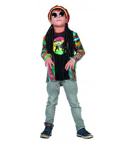 Reggae-Dub Reggae Shirt Jongen Kostuum