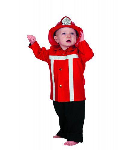 Brandweerman Sim Brandweer Rood (Baby) Kostuum
