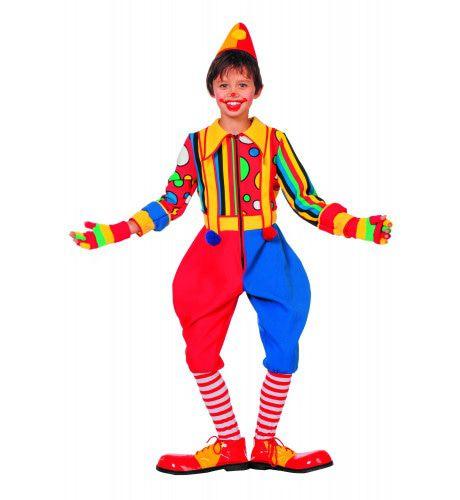 Multicollori Clown Bubbles ( Jongen) Kostuum