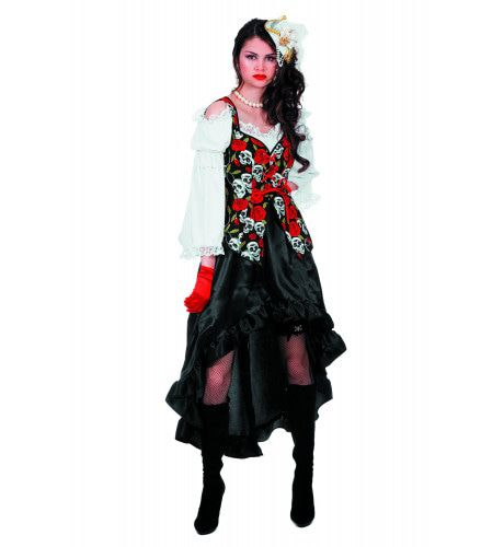 Steampunk Pirate Black Rose Vrouw Kostuum