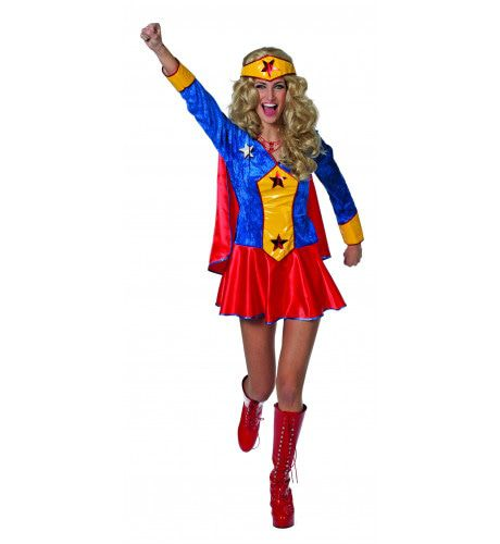 Superheldin Wondergirl Vrouw Kostuum