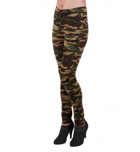 Commando Legging Bedrukt Vrouw