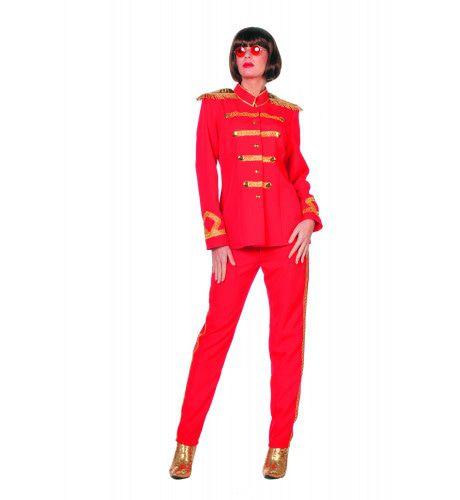 Beatles Sgt. Pepper Rood Vrouw Kostuum