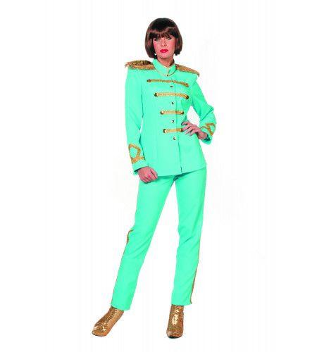 Beatles Sgt. Pepper Aqua Vrouw Kostuum