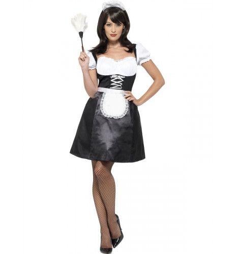 Franse Kamermeisje Mon Amour Vrouw Kostuum