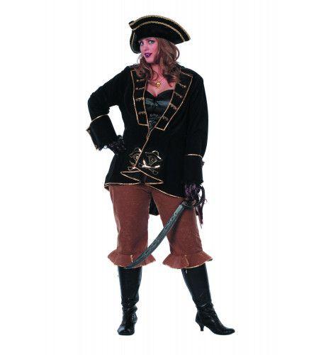Ms Voorsteven Piraat Bling ( Met Broek) Vrouw Kostuum