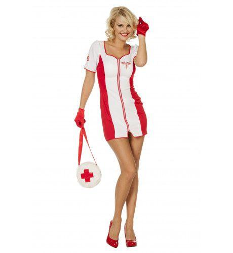 Racing Verpleegster Vrouw Kostuum