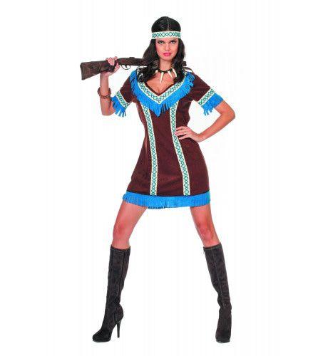 Indiaanse Tenderfoot De Jager Vrouw Kostuum