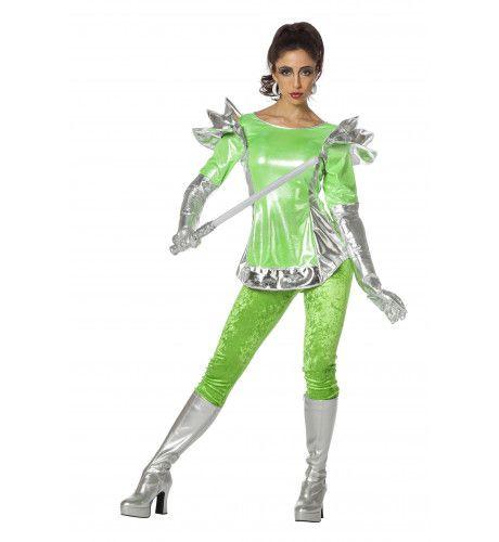 Queen Lazer Space Odity Vrouw Kostuum