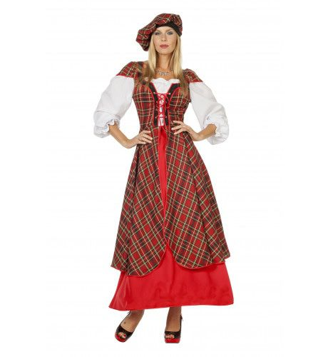 Highlands Scottish Lady, Lang Vrouw Kostuum