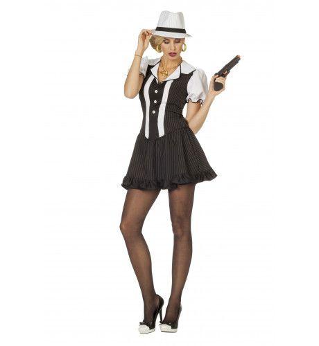 Gangsterdame Ms Capone Vrouw Kostuum
