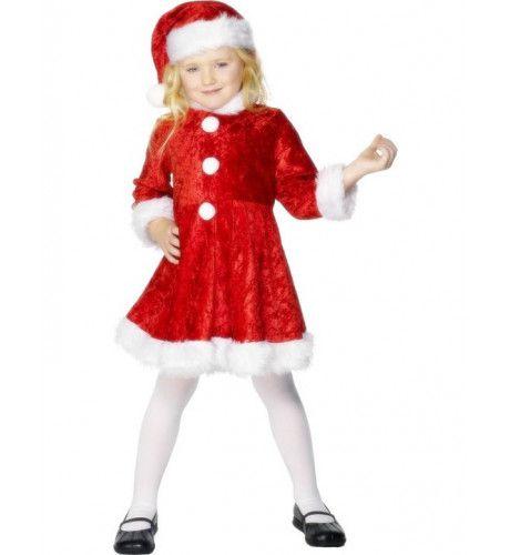 Mini Juffrouw Kerstman Meisje Kostuum