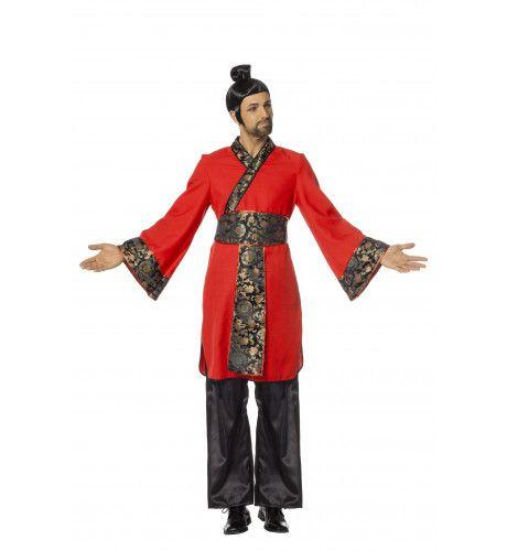 Mr Ping Pong China Red Man Kostuum