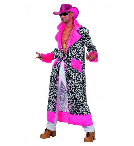 Mr Daddy Luipaard Pink Man Kostuum