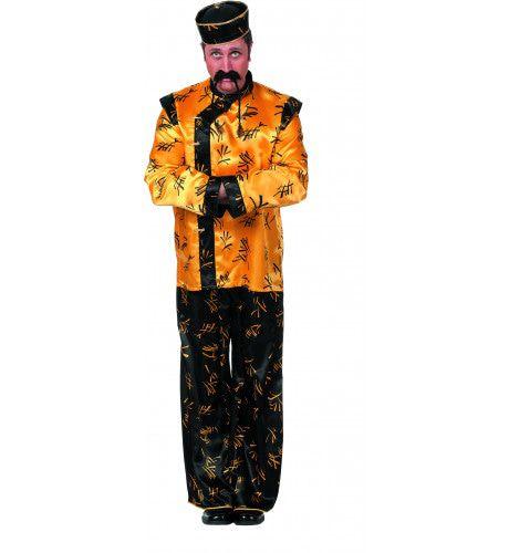 Chinees Satijn Shanghai Man Kostuum