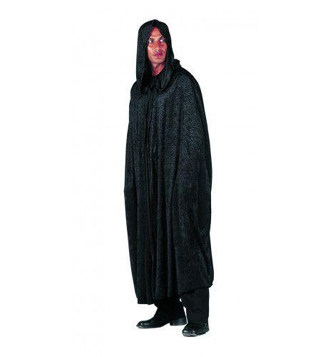 Donker Woud Cape Lang Pansamt, Zwart Man Kostuum