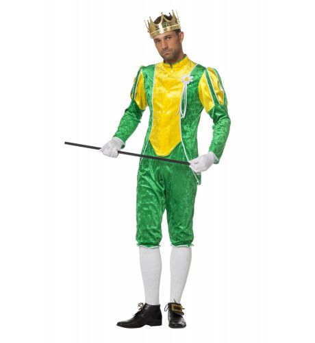 Sprookjesachtige Kikkerprins Man Kostuum