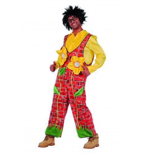 Geinige Latzhose Muurbloempje Man Kostuum