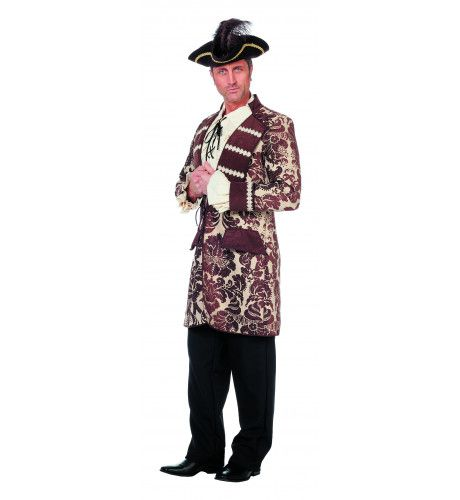 Bling Chique Piratenjas Jacquard Man Kostuum