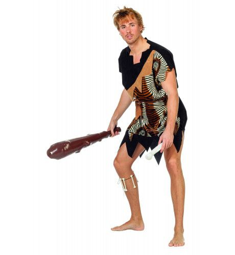 Pleistoceen Oermens Velboa Afrika Man Kostuum