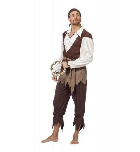 Sloeberige Gypsy / Piraat Man Kostuum