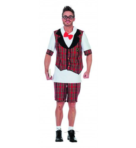 Nerdy Schoolboy Man Kostuum