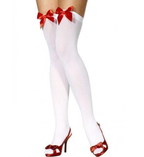 Witte Kousen Met Rode Strikjes