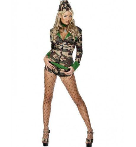 Luxe Strijdster Leger Jumpsuit Vrouw Kostuum