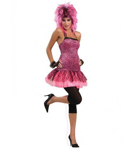 Jaren 80 Neon Funk Dress Vrouw Kostuum