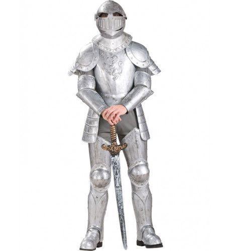 Ridder In Glanzend Harnas Man Kostuum