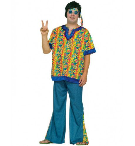Hippie Kerel Maatje Meer Man Kostuum