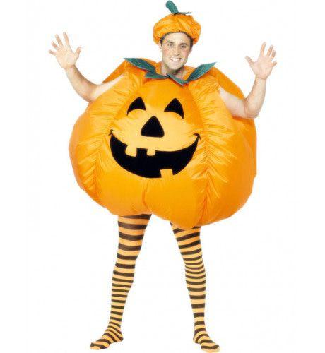 Opblaasbare Pompoen Halloween Volwassen Kostuum
