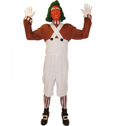 Volwassen Oompa Loompa Kostuum (En Pruik) Man