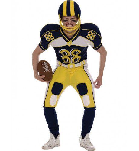 American Football Speler Kostuum (Inc Helm En Bal) Man