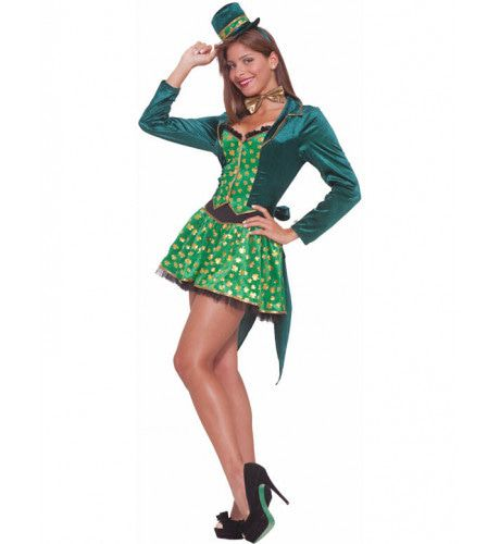 Sexy Irish Babe Vrouw Kostuum