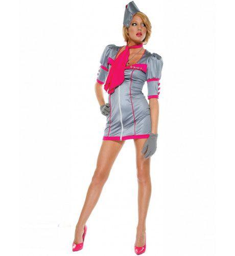 Chique Stewardess Vrouw Kostuum