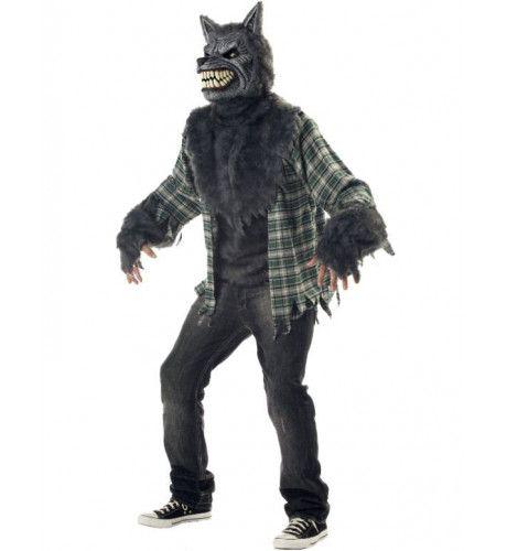 Volle Maan Gekte Weerwolf Halloween Man Kostuum