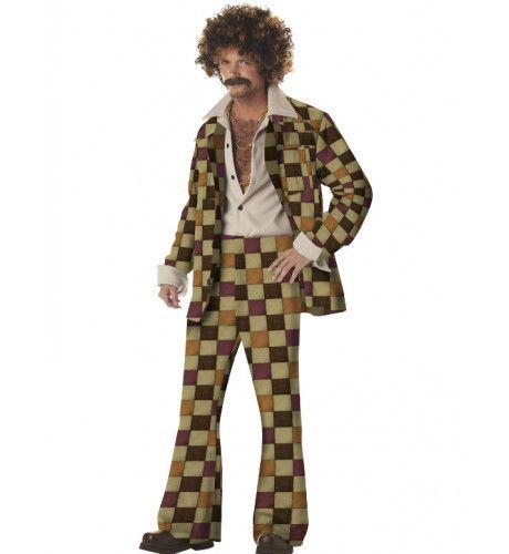 Jaren 70 Disco Sleazeball Man Kostuum