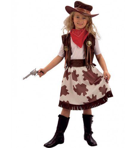 Cowgirl Met Hoed Meisje Kostuum