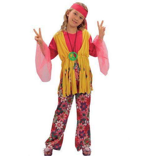 Jaren 60 Hippiemeisje Meisje Kostuum