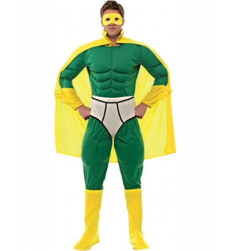Captain Y-Fronts Superheld Man Kostuum