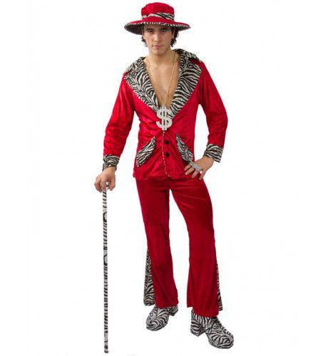 Rood Pooier Met Hoed Man Kostuum