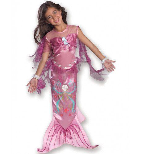 Roze Zeemeermin Meisje Kostuum