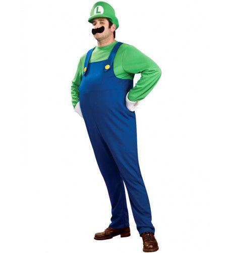 Luigi Van Super Mario Kostuum (Deluxe) Man