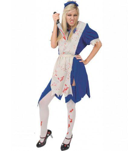 Zombie Alice Vrouw Kostuum