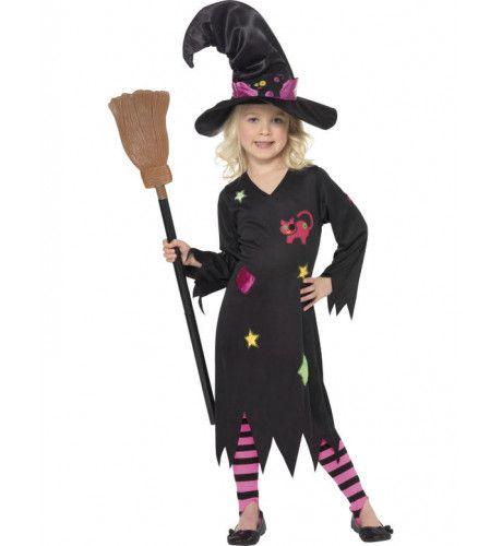 Heks Halloween Meisje Kostuum