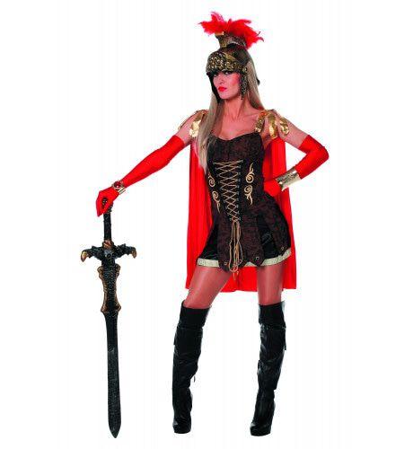 Hete Romeinse Spartacus Lady Vrouw Kostuum